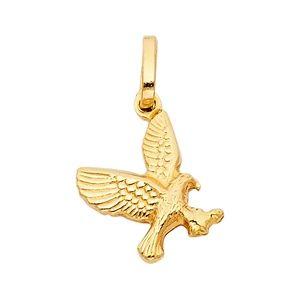 14K Yellow Gold Flying Eagle Pendant